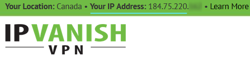 Check your IP address at IPVanish.com