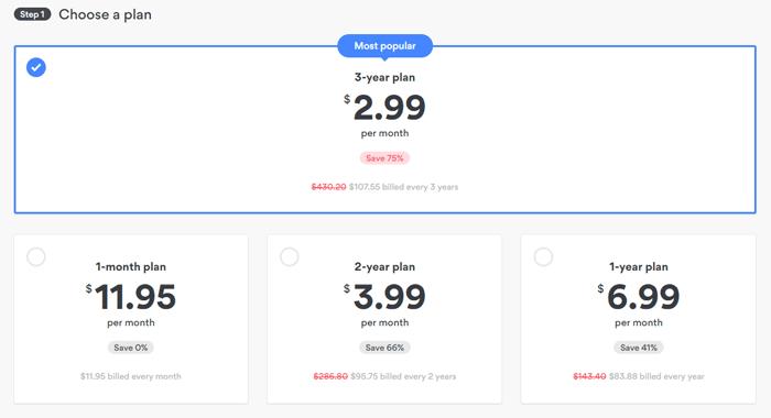 NordVPN subscription options