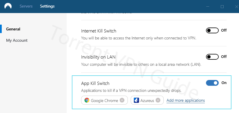 App Kill Switch (NordVPN)