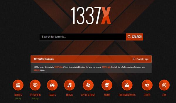Unblocking 1337x torrent tracker