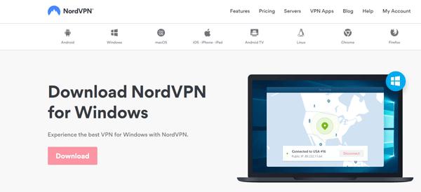 Download NordVPN software