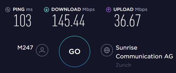 Torguard Speed (Switzerland p2p server)
