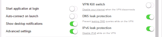 DNS Leak Protection and IPv6 leak protection in VPN software