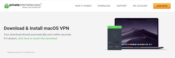 Download Private Internet Access VPN for Mac