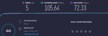 Speedtest with no VPN