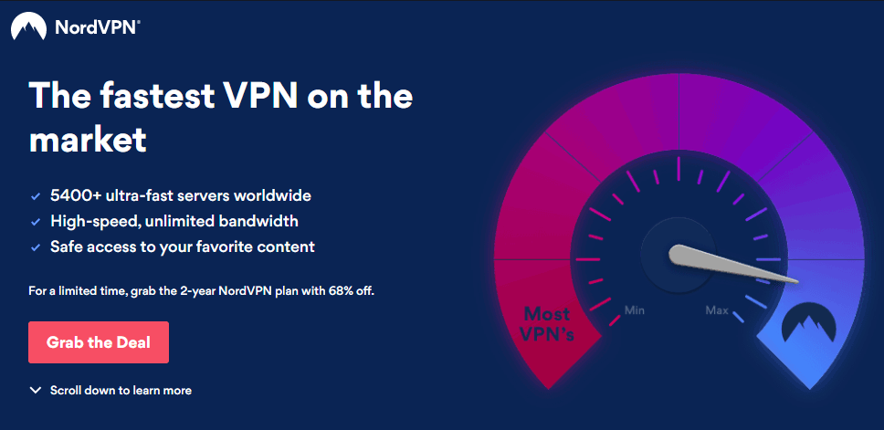 NordVPN is the fastest VPN for Popcorn Time
